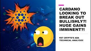 CARDANO LOOKING TO BREAK OUT BULLISHLY?! HUGE GAINS IMMINENT?! FAT CRYPTO'S ADA TECHNICAL ANALYSIS!