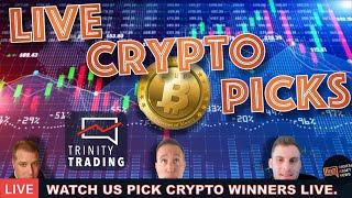 LIVE TRINITY TRADING: WATCH US PICK A CRYPTO WINNER