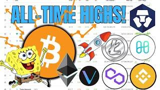 CRYPTO BIGGER Than Ever  Bitcoin, Ethereum, Uniswap, Binance + VeChain All Time Highs
