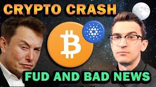 CRYPTO FUD AND BAD NEWS - Market Crash Continues