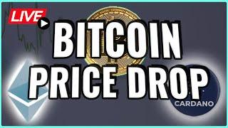 Bitcoin price DROPPING! What you need to know! + Ethereum and Cardano update! Coffee N Crypto Live