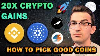 MY TOP 3: 20X CRYPTO GAINS   How I Find Good Coins