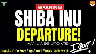 SHIBA INU DEPARTURE!!! No One Saw This Coming...