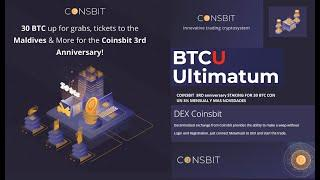 Staking pool for 30 bitcoins on the Coinsbit exchange in honor of the 3rd anniversary! 3% Mensual.