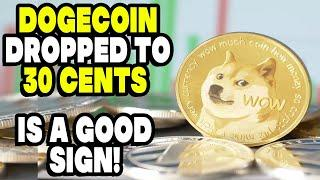 GOOD NEWS! Dogecoin Dropped To 30 Cents Is A Good SIGN!  WARNING ALL DOGECOIN INVESTORS, DON'T PANIC