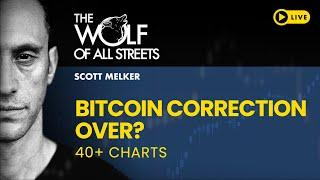 BITCOIN CORRECTION OVER? CHARTING SPREE FOR WOLF DEN SUBSCRIBERS