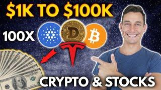 TURN $1000 INTO $100,000 WITH CRYPTO! 100X STRATEGY | Get Rich with Cryptocurrency