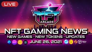 NFT ARCADE, NFT GAMING NEW, NEW GAMES, NEW TOKENS, BLOCKCHAIN GAMES!