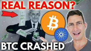 CRYPTO FUD AND BITCOIN CRASHING! Real Reasons Why Bitcoin Crashed and Why It Will Happen Again