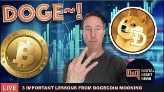 LIVE: 3 IMPORTANT LESSONS FROM DOGECOIN MOONING + TURKEY BANS CRYPTO
