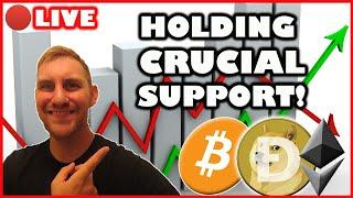 BITCOIN HOLDING CRUCIAL SUPPORT! ALTCOINS FLYING! (BITCOIN LIVE)