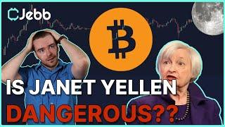 How Big Of A Threat Is Janet Yellen To Bitcoin?? - How High Is The Risk?!