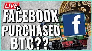 Did Facebook PUMP Bitcoin Price?! + Cryptocurrency is an UNSTOPPABLE Train! Coffee N Crypto Live