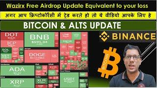 Wazirx Big Airdrop Update - Bitcoin and Alts update in Hindi - LIVE QA Session