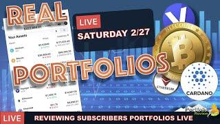 LIVE: REVIEWING SUBSCRIBERS CRYPTO PORTFOLIOS. SHOULD EVERYONE HAVE BITCOIN, ETHEREUM & CARDANO?