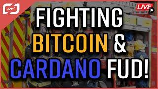 Yesterday was a GREAT DAY for Bitcoin! + Cardano FUD Debunked! Coffee N Crypto Live