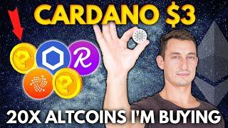 CARDANO (ADA) $3 SOON!! 20X ALTCOIN GEMS I'M BUYING TO BEAT ETHEREUM | Get Rich with Crypto