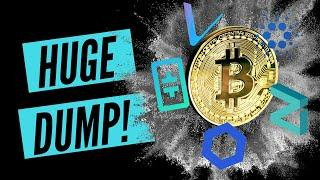The Big Dump Bitcoin, Cardano, Ethereum, Theta, Vechain, Chainlink, Tfuel Technical Analysis
