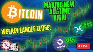 BITCOIN LIVE : BTC WEEKLY CANDLE CLOSE. ALL TIME HIGH!