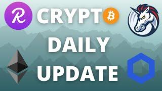 CRYPTO DAILY UPDATE BITCOIN ETHEREUM CHAINLINK 1INCH AND REEF ANALYSIS AND PRICE PREDICTIONS!