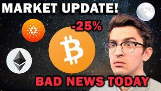 *CRYPTO MARKET UPDATE* Bad News + What's Next for Bitcoin and Ethereum