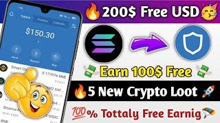 Instant Earn 150$   New Crypto Earning Apps 2021  New Solana Airdrops 2021