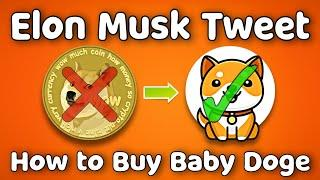 Baby Doge Coin  Elon Musk Tweet | Dogecoin or Baby Doge | How to buy baby doge coin on trust wallet