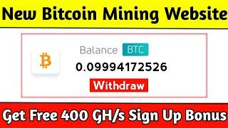 New Bitcoin Mining Website Launched 2021 | Daily Earn $100 BTC | Get Free 400 GHs | Minexo.io Review
