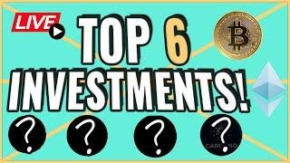 Our TOP 6 cryptocurrency INVESTMENTS to make you profit!! Coffee N Crypto Live