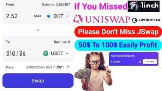 If You Missed UniSwap 1Inch & OpenOcean airdrop    Please Don't Miss JSwap.Finance New Airdrop Event