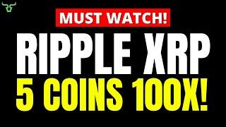 Ripple XRP 5 NEW ALTCOINS FOR 100X GAINS!!! [number 5 is surprising]