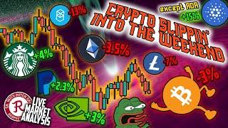 BITCOIN LIVE : BTC, CRYPTO BARELY HANGING ON. OMINOUS CLOSE FOR STOCKS