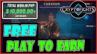 FREE PLAY TO EARN CRYPTOFIGHTS (TAGALOG) - BEST NFT GAME - BLOCKCHAIN GAMES - CASH - GOOD GRAPHICS