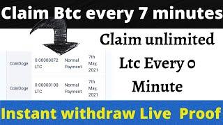 Earn Free Unlimited Litecoin | Claim ltc Every Second | Claim btc Every Second | btc fauct #Litecoin