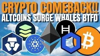 CRYPTO COMEBACK!!! Crypto.com, FUSE, Fantom, Chainlink, Injective, AAVE, Polygon (MATIC), Balancer