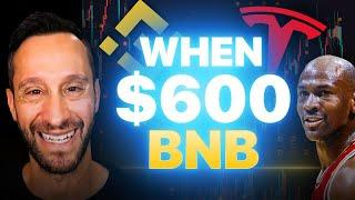 WHEN $600 BNB? | TESLA, MICHAEL JORDAN, APPLE | CRYPTO NEWS & CHARTING