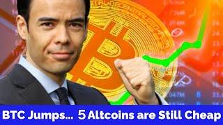 Bitcoin JUMPS...these 5 Altcoins are still Cheap