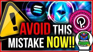 AVOIDING THIS BIG MISTAKE CAN SAVE YOU MILLIONS IN CRYPTO!