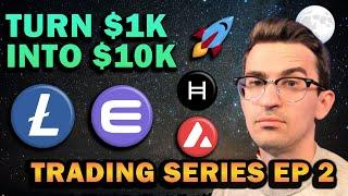 Altcoins I'm Buying!! $1k to $10k Crypto Trading Challenge Ep 2