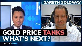 Why did gold price drop 2% today? More downside coming? Gareth Soloway on metals, stocks, Bitcoin