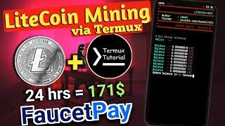 Termux tutorial - Litecoin mining on mobile by termux | LTC mining on android | Earn Litecoin