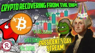 BITCOIN LIVE : PRESIDENT'S DAY SALE ON CRYPTO?!