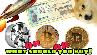 Dogecoin Or BITCOIN What's The Best INVESTMENT? Should U Invest Ur $1400 Check In Cryptocurrency?