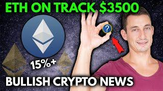 BULLISH CRYPTO NEWS!! Ethereum on Track $3500, ETH Surges, BTC Whales Buying Dip, Solana (SOL) ATH