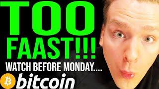BITCOIN MOONING TOO FAST!!!! WATCH THIS ASAP AND PREPAARE!!! Altseason next... Programmer explains