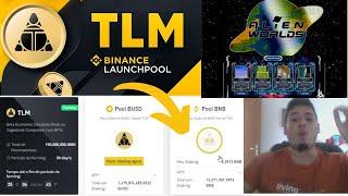 Como Farmar TLM (Alien Worlds) Novo Lançamento BINANCE Launchpool |CUSTO 0 | BINANCE STAKING corre