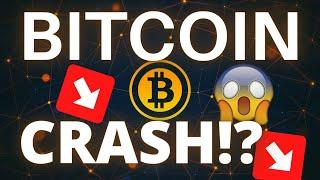 BITCOIN (BTC) AND CRYPTO'S CRASHING!! DON'T BUY THE DIP JUST YET!!