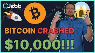 UNBELIEVEABLE BITCOIN CRASH! - WHY DID THE BITCOIN PRICE JUST DROP $10,000 IN A DAY???