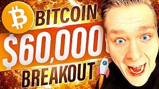 BITCOIN $60,000 FEBRUARY BREAKOUT IMMINENT!!!! This will affect altcoins heavily....