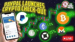 BITCOIN LIVE : BTC BREAKOUT! PAYPAL LAUNCHES CRYPTO CHECKOUT!